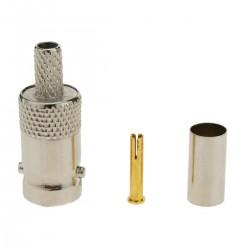 Conector de cable coaxial BNC hembra (RG58)