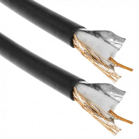 Bobina de cable coaxial RG59 de 200m