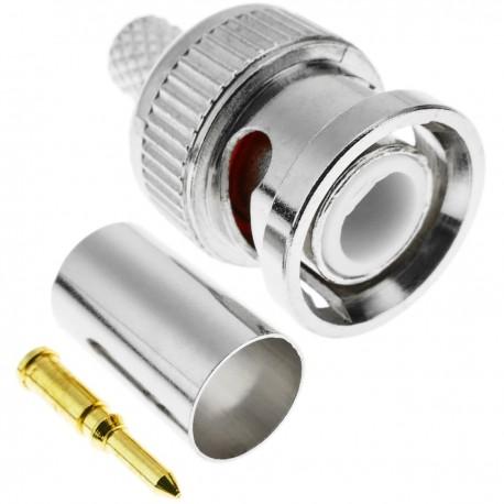 Conector de cable coaxial BNC macho (RG59)