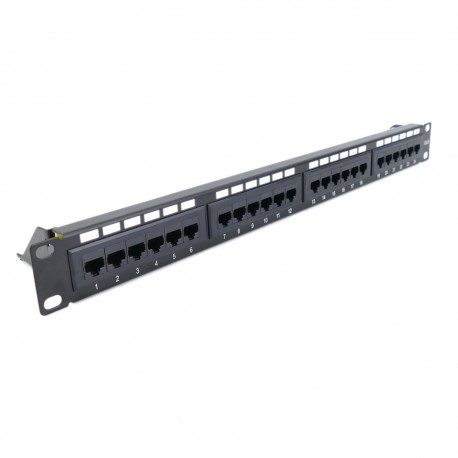 Patch panel 24 x RJ45 UTP cat.6 1Gb Ethernet