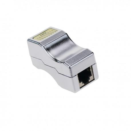 Acoplador empalme de cable FTP categoría 6 RJ45 hembra a RJ45 hembra