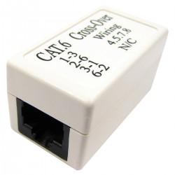 Acoplador empalme de cable UTP categoría 6 RJ45 hembra a RJ45 hembra cruzado