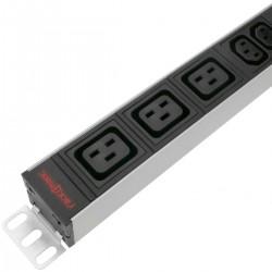"""Regleta de enchufes rack 19"""" con 6 C13 y 3 C19 de RackMatic"""