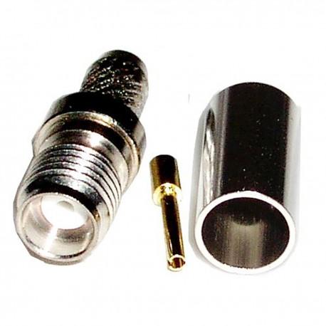 Conector Crimpable HDF-200 (SMA-Hembra Aéreo)