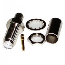 Conector Crimpable HDF-200 (SMA-Hembra Bulkhead)