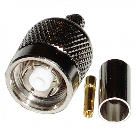 Conector Crimpable HDF-200 (rTNC-Macho Aéreo)