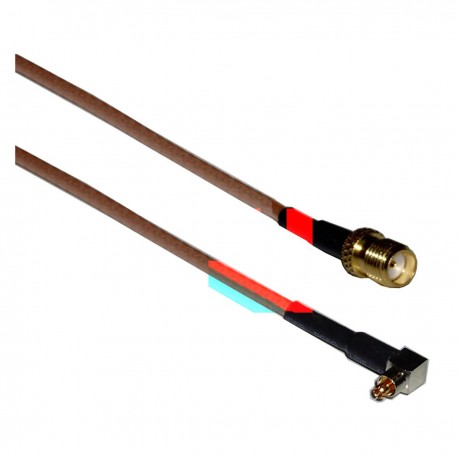 Cable RG-316 20cm (Lucent MC-Card Macho / SMA-Hembra)