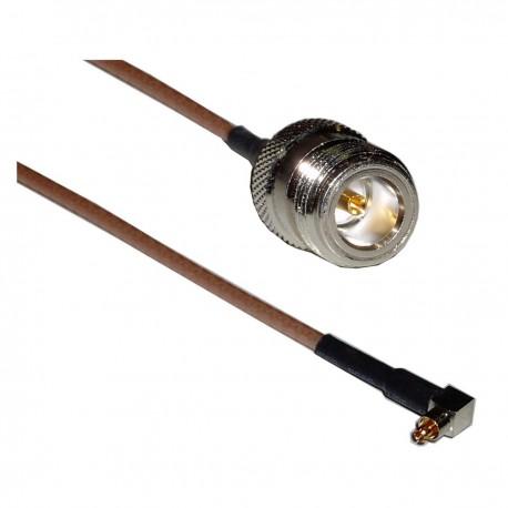 Cable RG-316 20cm (Lucent MC-Card Macho / N-Hembra)