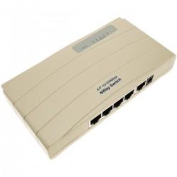 Conmutador ethernet LAN Switch 10/100Mbps de 5 puertos UTP RJ45 hembra