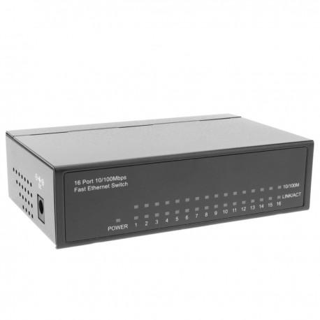 Conmutador ethernet LAN switch 10/100 Mbps 16 puertos RJ45 UTP
