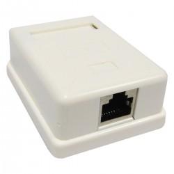 Caja de superficie de 1 RJ45 Cat.5e FTP