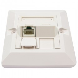 Placa de pared de 80x80 de 1 RJ45 Cat.6 UTP