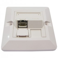 Placa de pared de 80x80 de 1 RJ45 Cat.6 FTP