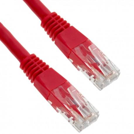 Cable UTP categoría 6 rojo 3m