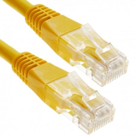 Cable UTP categoría 6 amarillo 25cm
