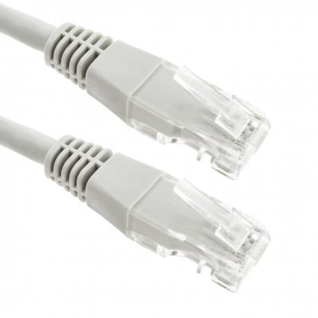Cable de red ethernet LAN UTP RJ45 de Cat.6 gris de 1m
