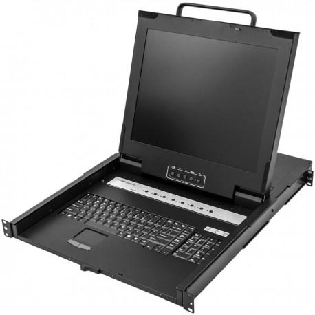 "Consola KVM rack 19"" de 8 puertos de RackMatic con teclado USA"