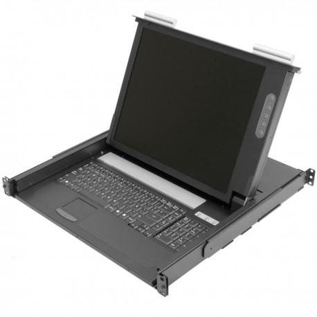 "Consola para armario rack 19"" 1U. Teclado mousepad y pantalla 17"" VGA para servidor rack"