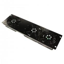Kit de ventilación frontal para rack 19'' 3U de 3 ventiladores - RackMatic