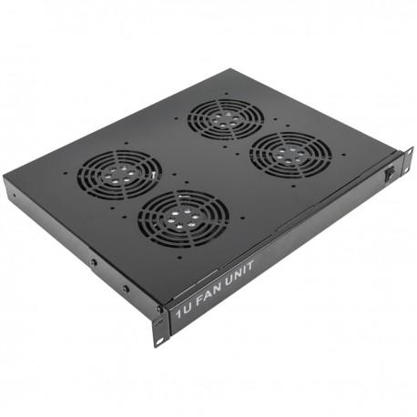 """Kit ventilación para armario rack 19"""" 1U de 4 ventiladores de 120mm"""
