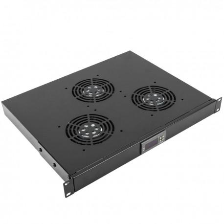 """Kit de ventilación con termostato para armario rack 19"""" de 3 ventiladores de 120mm"""