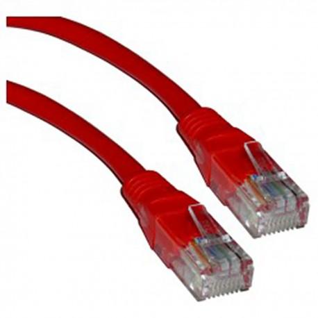 Cable UTP categoría 5e rojo 1m
