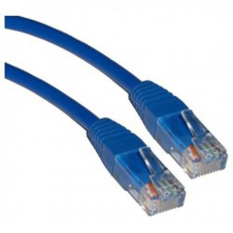 Cable UTP categoría 5e azul 50cm