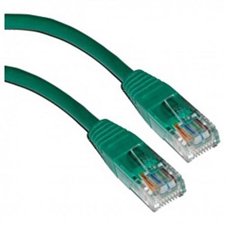 Cable UTP categoría 5e verde 1m