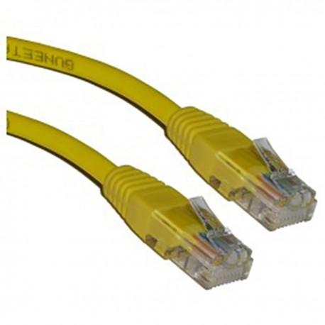 Cable UTP categoría 5e amarillo 1m