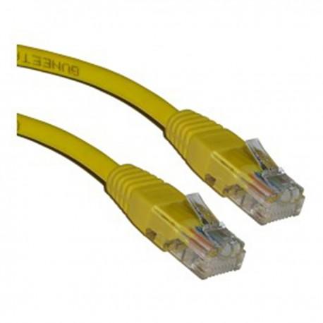 Cable UTP categoría 5e amarillo (2m)