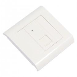 Caja de pared o canaleta de 80x80 con 1 RJ45 UTP Cat.5e 568B