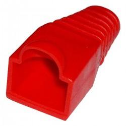 Cubierta de goma para conector RJ45 de color rojo