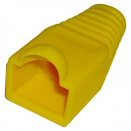 Cubierta de goma para conector RJ45 de color amarillo