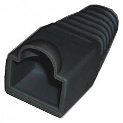 Cubierta de goma para conector RJ45 de color negro