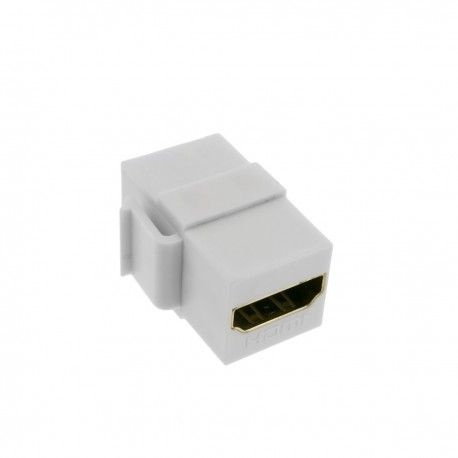 Keystone HDMI de HDMI-A hembra a HDMI-A hembra para patch panel con marco 110