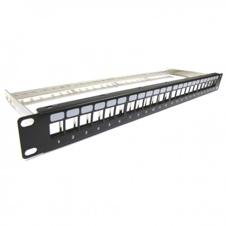 Patch panel para rack 19 para 24 keystone 110 con peine