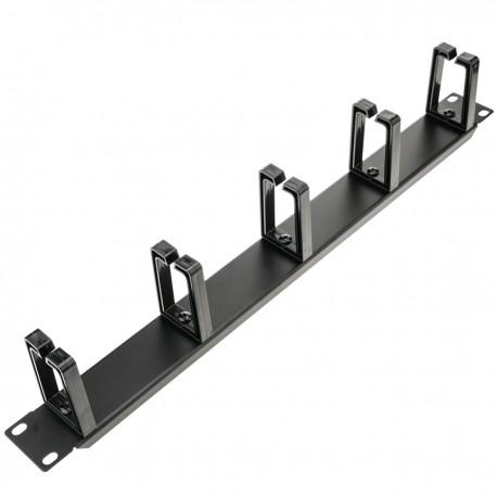 """Panel guíacables para armario rack 19"""" 1U con 5 anillas para gestión de cables"""
