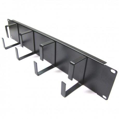 """Panel guíacables para armario rack 19"""" 2U con 4 anillas para gestión de cables"""