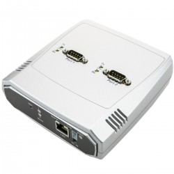 Servidor serie 2 x RS232 a ethernet TCP IP UDP RJ45 10/100 Mbps NCOM-211