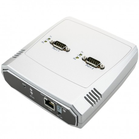 Servidor serie 2 x RS232 RS422 RS485 a ethernet TCP IP UDP RJ45 10/100 Mbps NCOM-213