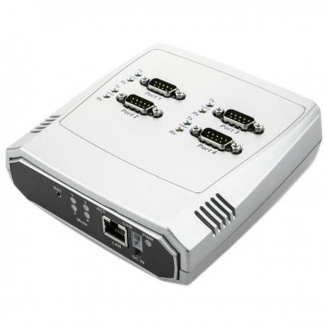 Servidor serie 4 x RS232 RS422 RS485 a ethernet TCP IP UDP RJ45 10/100 Mbps NCOM-413