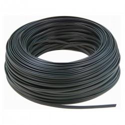 Bobina Cable Telefónico Flexible 4-Hilos Negro (100m)