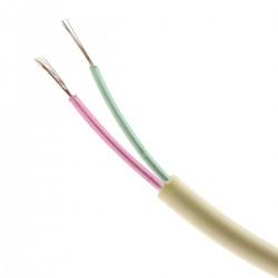 Bobina Cable Telefónico Redondo 2-Hilos Marfil (100m)