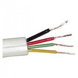 Bobina Cable Telefónico Redondo 4-Hilos Marfil (100m)