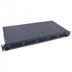 Patch panel de 50 RJ45 Cat.3 1U (8P4C) negro en cajón extraible