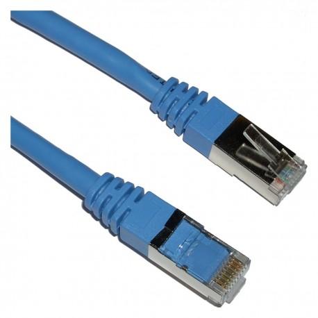 Cable FTP categoría 6 azul 1m