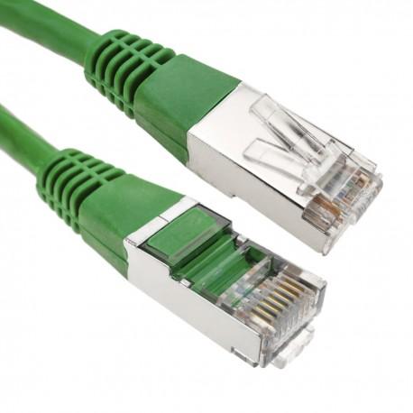 Cable FTP categoría 6 verde 25cm