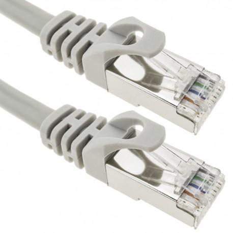 Cable FTP categoría 6A gris 25cm