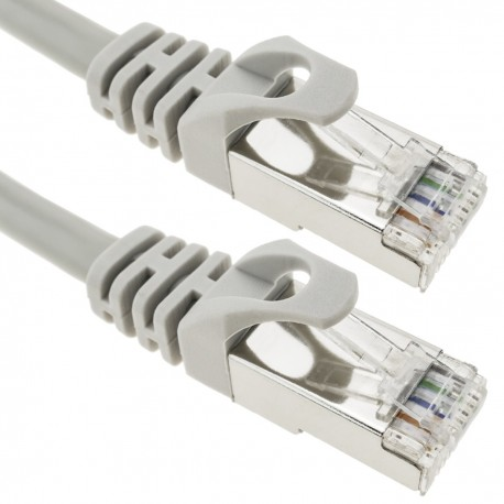 Cable FTP categoría 6A gris 50cm
