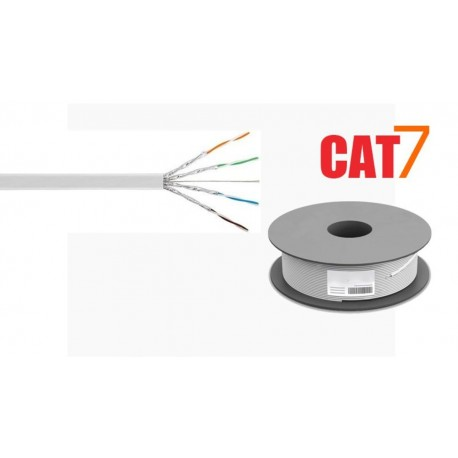 Bobina de cable plano U/FTP Cat. 7 flexible CU blanco 100m